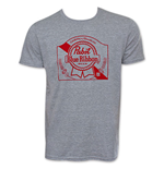PBR Grey Ribbon Logo Beer Tee Shirt