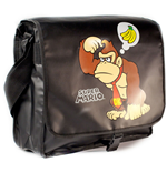 NINTENDO SUPER MARIO BROS. Mario & Donkey Kong Messenger Bag with Reversible Flap, Black