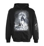 SPIRAL White Wolf All-Over Sweatshirt, Long Sleeve, Adult Male, Large, Black