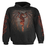 SPIRAL Dragon Furnace All-Over Sweatshirt, Long Sleeve, Adult Male, Large, Black