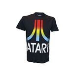 ATARI Colour Gradient Logo Medium T-Shirt, Black