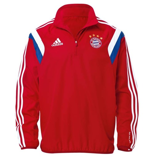 2014-15 Bayern Munich Adidas Windbreaker (Red)