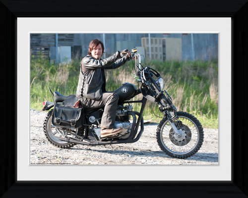 The Walking Dead Daryl Bike Collector Print