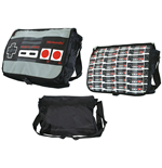 NINTENDO ORIGINAL Classic Controller Reversible Flap Messenger Bag, Black
