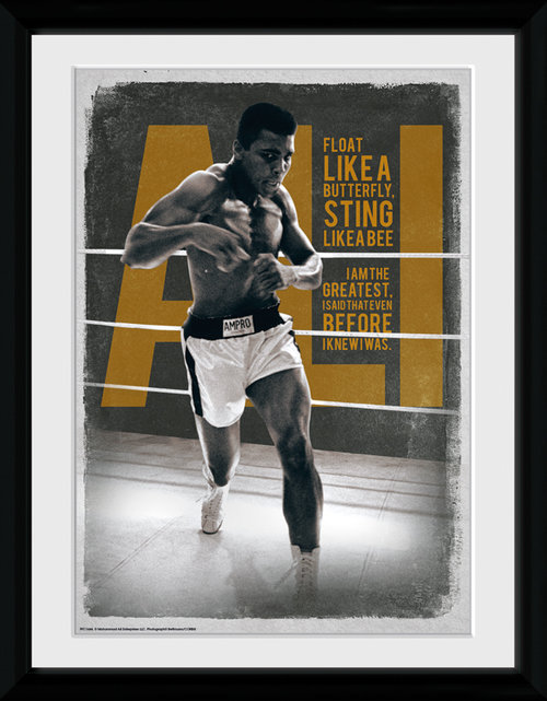 Muhammad Ali Quotes Framed Collector Print
