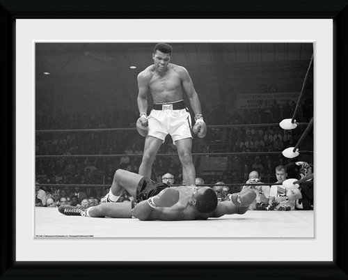 Muhammad Ali Liston Framed Collector Print