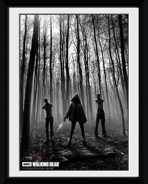 The Walking Dead Woods Framed Collector Print