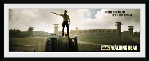 The Walking Dead Prison Framed Collector Print
