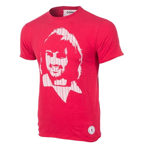 George Best Repeat Logo T-Shirt // Red 100% cotton