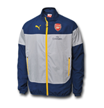 2014-2015 Arsenal Puma Leisure Jacket (Blue-Grey)