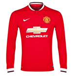 2014-15 Man Utd Home Nike Long Sleeve Shirt