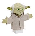 Yoda marionette 22 cm on backercard