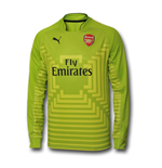 2014-2015 Arsenal Puma Away Goalkeeper Shirt (Lime)