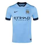 2014-2015 Man City Home Nike Football Shirt