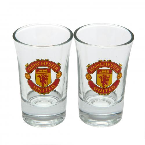 Manchester United F.C. 2pk Shot Glass Set