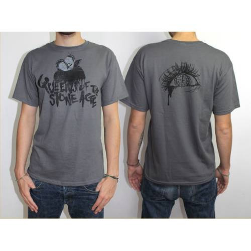 Queens of the Stone Age Grey T-Shirt  Design: Spray