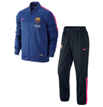 2014-2015 Barcelona Nike Knit Tracksuit (Royal-Pink)