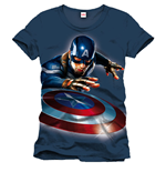 Captain America T-Shirt Launched the Shield black