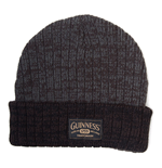 GUINNESS Acrylic Beanie Hat with Logo, Dark Grey/Black