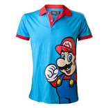 NINTENDO SUPER MARIO BROS. Mario Medium Polo Shirt, Blue/Red