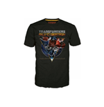 TRANSFORMERS Fall of Cybertron Optimus Space Large T-Shirt, Black