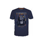 TRANSFORMERS Fall of Cybertron Optimus Fire Extra Large T-Shirt, Blue
