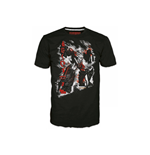 TRANSFORMERS Fall of Cybertron Megatron Rain Medium T-Shirt, Black