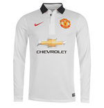 2014-2015 Man Utd Away Nike Long Sleeve Shirt