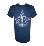 ASSASSIN'S CREED Unity Logo Large T-Shirt, Blue