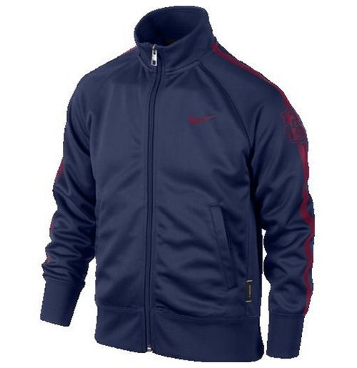 2014-2015 Barcelona Nike Core Trainer Jacket (Navy)