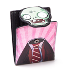 PLANTS VS. ZOMBIES Zombie Head Snap Bi-fold Wallet, Black