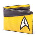 STAR TREK Into Darkness Command Logo Bi-fold Wallet, Yellow/Dark Grey