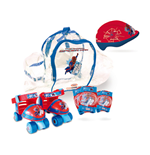 THE AMAZING SPIDER-MAN Quad Skates Set (Quads Skates, Protective Helmet/Pads & Bag)