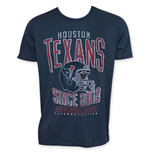 Junk Food Navy Blue HOUSTON TEXANS 2002 NFL T-Shirt