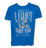 Junk Food NFL DETROIT LIONS 1934 Blue Tee Shirt