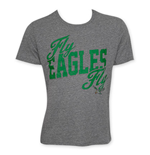 Junk Food PHILADELPHIA EAGLES Grey Fly Eagles Fly NFL T-Shirt