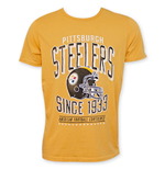 Junk Food Yellow PITTSBURGH STEELERS 1933 NFL T-Shirt