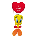 Looney Tunes Plush Toy - Tweety on a Seesaw