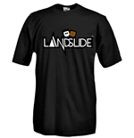Round necked t-shirt with flex printing - Landslide