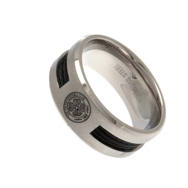 Celtic F.C. Black Inlay Ring Small