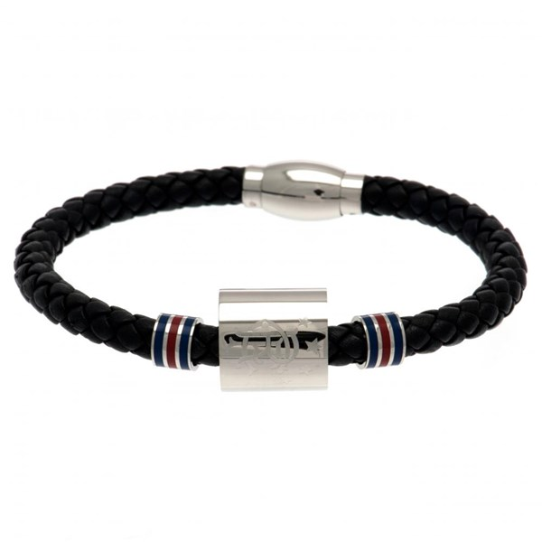 Rangers F.C. Colour Ring Leather Bracelet