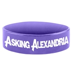 Asking Alexandria Silicon Wrist Band Logo Purple