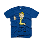 FALLOUT Vault Boys Thumbs Up Extra Large T-Shirt, Blue