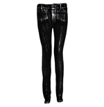 SPIRAL Gothic Rock Glitter Jeggings, Adult Female, Large, Black