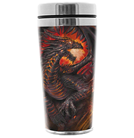 SPIRAL Dragon Collage Thermo Travel Flask Mug, 0.45L