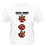 Sega T-shirt Alex Kidd Paper Rock Scissors