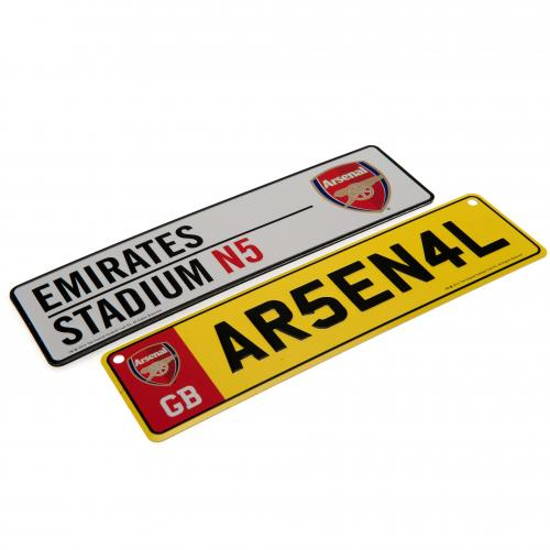 Arsenal F.C. Window & Fridge Sign Set