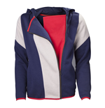 ASSASSIN'S CREED Unity Stripe Extra Large Cape Hoodie, Adult Female, Blue/White