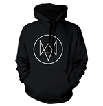 WATCH DOGS Fox Logo Extra Large Hoodie, Black