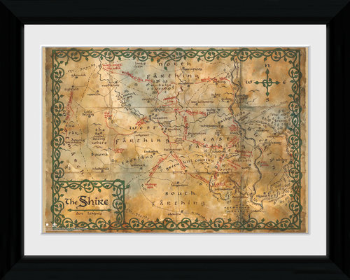 The Hobbit Map Collector Print